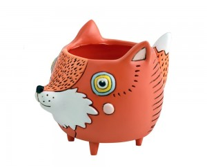 Orange Fox Planter Small