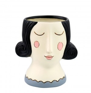 Rose Lady Planter Black Hair Small