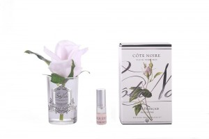 Rose Bud French Pink Clear Glass