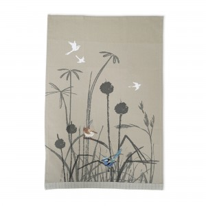 Blue Wren Grassland Tea Towel