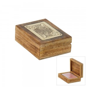 Playing Card Box Trieste Mango + Brass