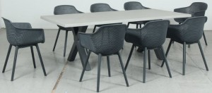 Cement Dining 9pce Set