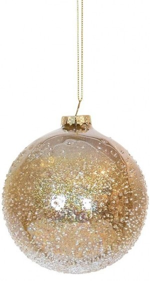 Bauble Glass Round Champagne