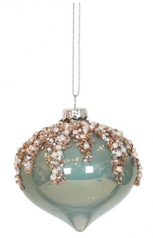Bauble Onion Mint With Champagne Bead