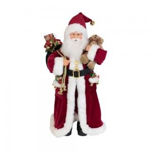Santa Standing With Teddy