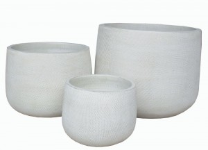 Textured Pot Allure Ivory Small