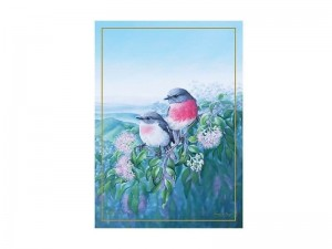 Maxwell + Williams Birds Of Australia Tea Towel Rose Robin