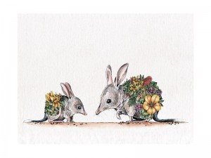 Bilby + Joey - Tea Towel