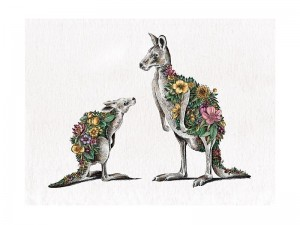 Kangaroo + Joey - Tea Towel