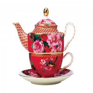 Cherry Red - Tea For One With Infuser