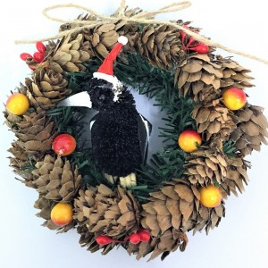 Pinecone Wreath - Magpie