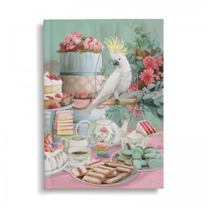 Hard Cover Notebook Lavish Tea Party