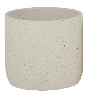 #Irma Ceramic Pot - Embossed Leaf