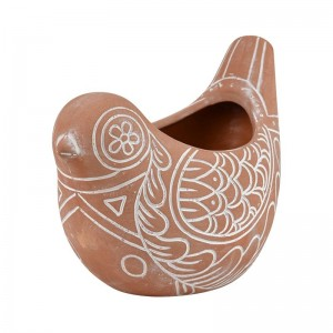 #Tweetie Bird Planter Terracotta + White