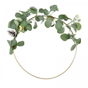 Eucalypt Ring Wreath With Pinecones