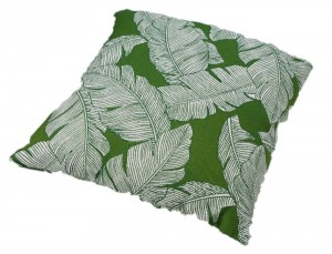 Outdoor Cushion Leaf Green & White