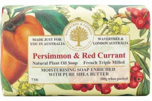 Wrapped Soap Persimmon + Red Currant