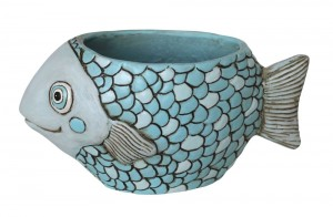 Blue Fish Planter Medium
