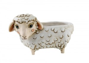 Sheep Planter White Medium