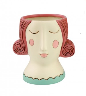 Red Rose Lady Planter Small