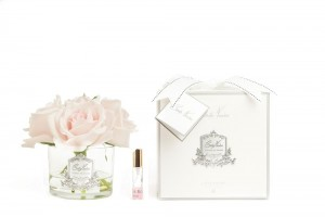 Five Rose French Pink Clear Glass