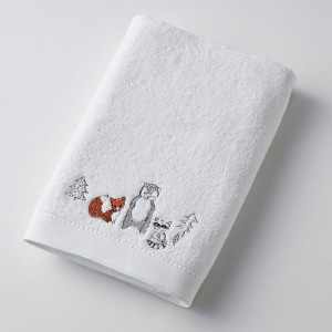 Bear + Fox + Racoon Bath Towel