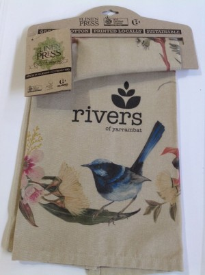 Rivers Tea Towel Beige