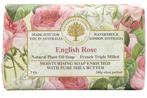 Wrapped Soap English Rose