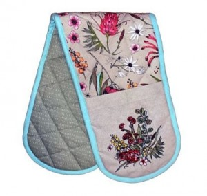 Native Floral Double Mitt