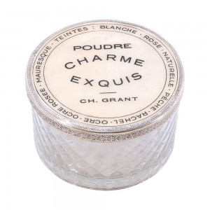 Charme Box Round Delores Cut Glass
