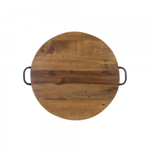 Acacia Tray Round With Handles