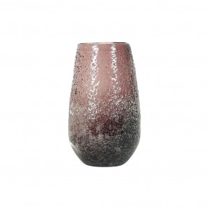 Vase Dimple Glass Plum Small