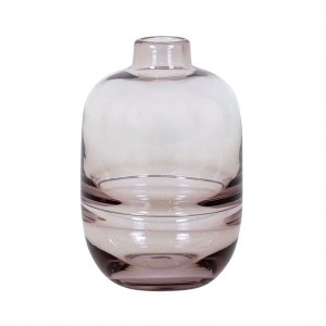 Vase Glass Bud Small Pink