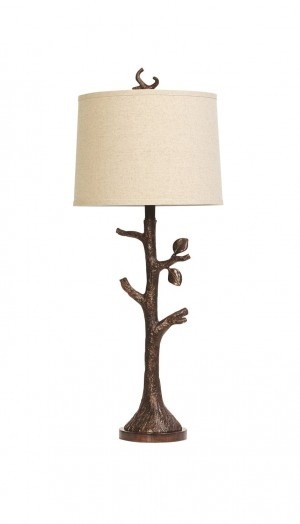Chateau Brown Resin Tree Lamp