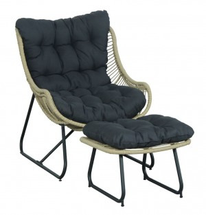 Logan Wicker Chair & Footrest