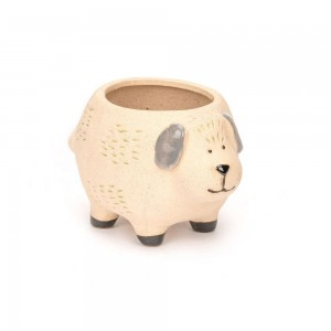 Dog Planter Natural 11cm