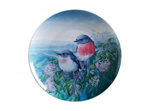 Maxwell + Williams Birds Of Australia Plate Rose Robin