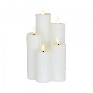 LED Candle Cluster White Set Of 5