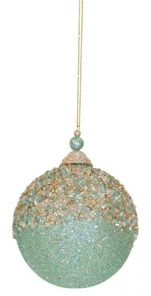 Ornament - Sage Crusted Round