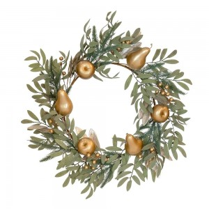 Fruit Wreath Sage + Gold