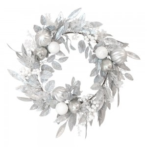 Wreath Silver + White