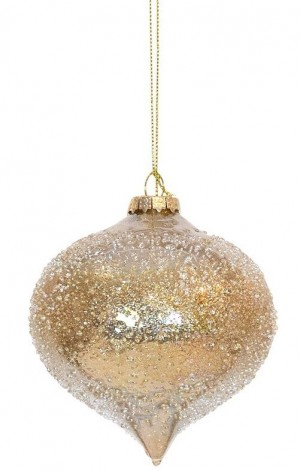 Bauble Glass Onion Champagne