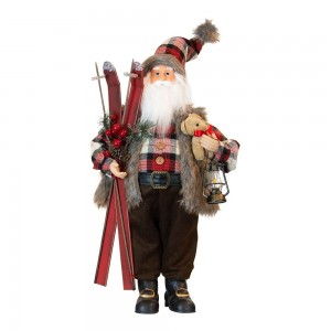 Santa Country With Skis