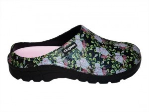 Black Roses Womens Clogees 7