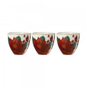 MW Poinsettia Bowl 10cm Set of