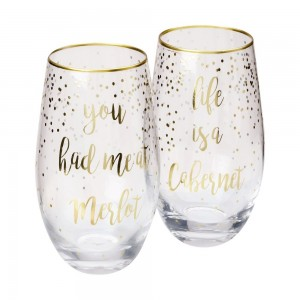 Celebrations Stemless Glasses Cabernet + Merlot