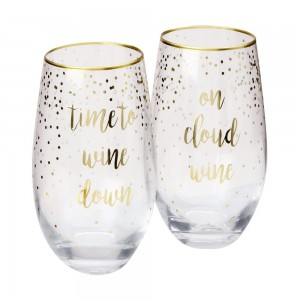 Celebrations Stemless Glasses Time + Cloud
