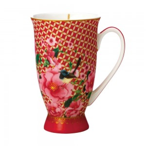 Cherry Red - Footed Mug