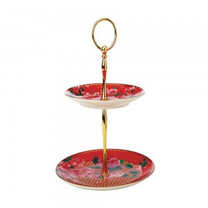 Cherry Red - 2 Tiered Cake Stand
