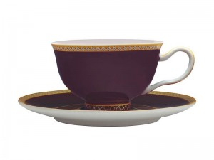 Violet - Footed Cup + Saucer
